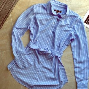 Banana Republic Tie-Waist Button-up Blouse